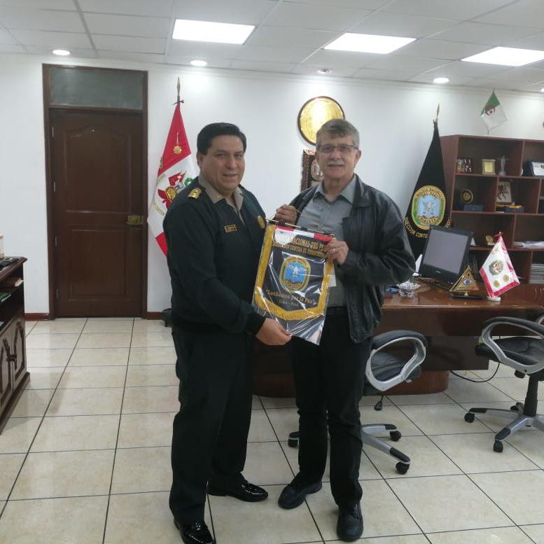 Steve McFarland in a state office in Peru