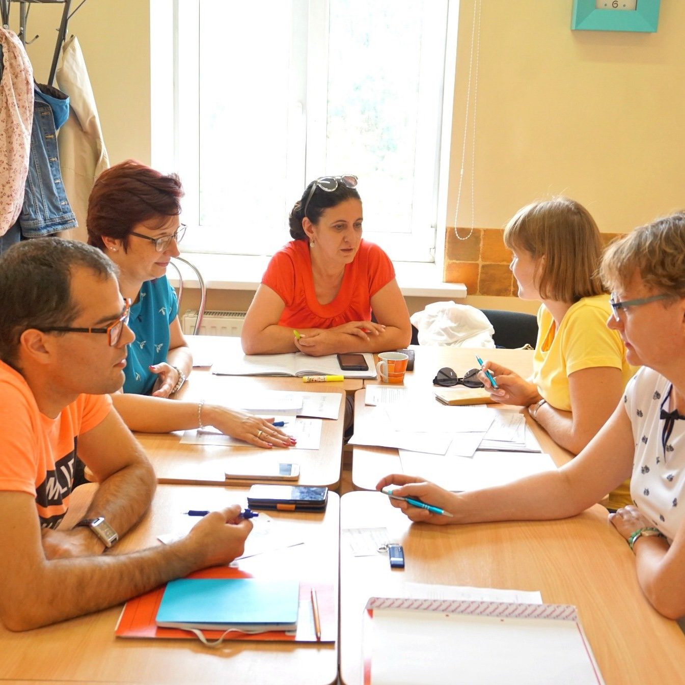 A Russian conversation group at the Durbe Institute in Latvia