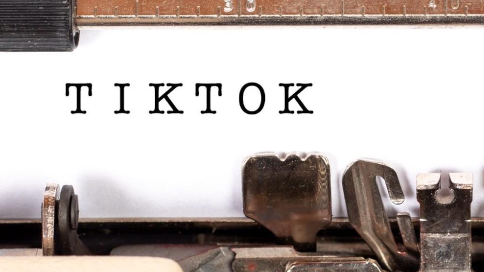 Typewriter with the words TikTok