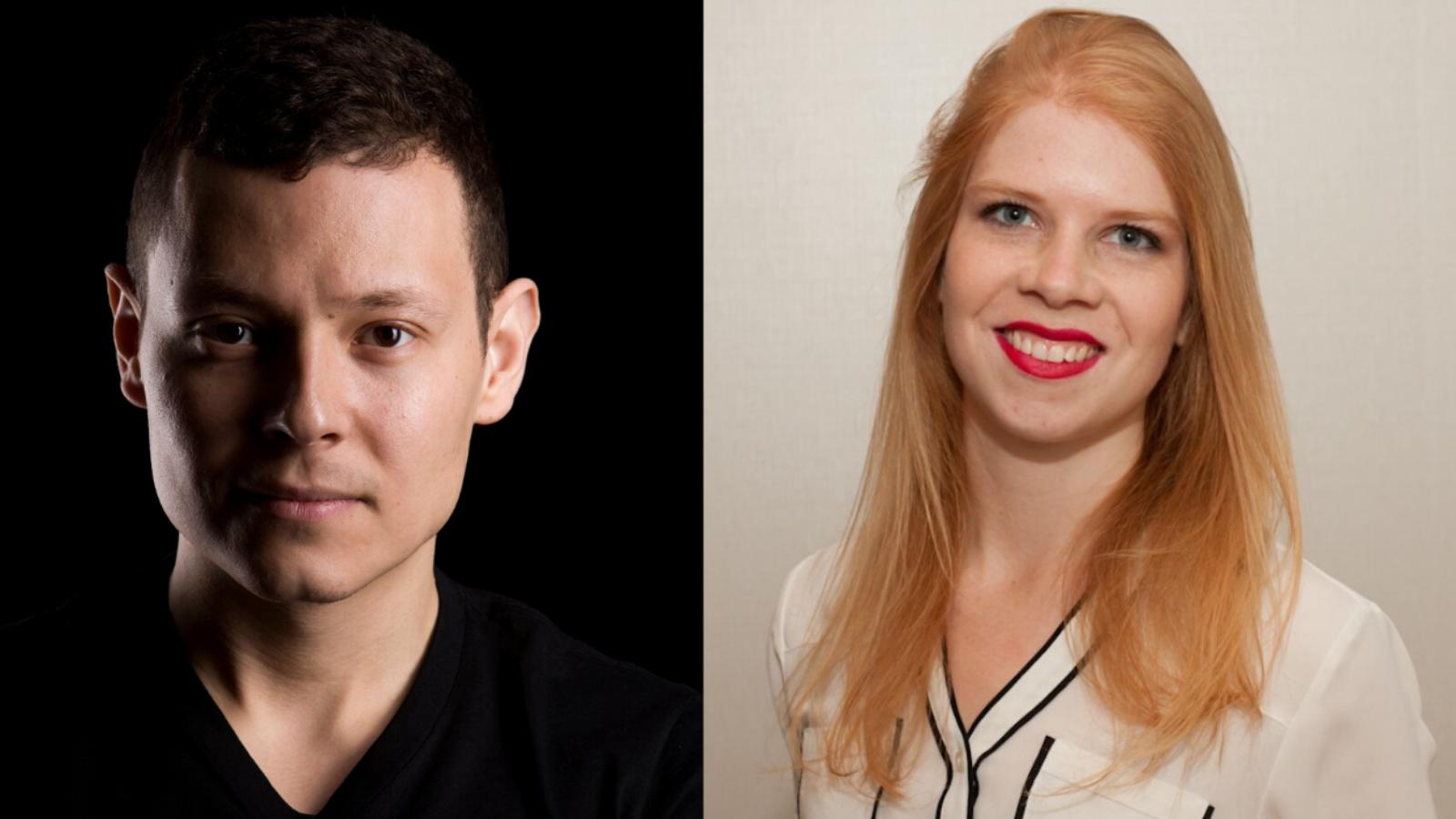 Headshots of Christoper Wall and Kristina Drye