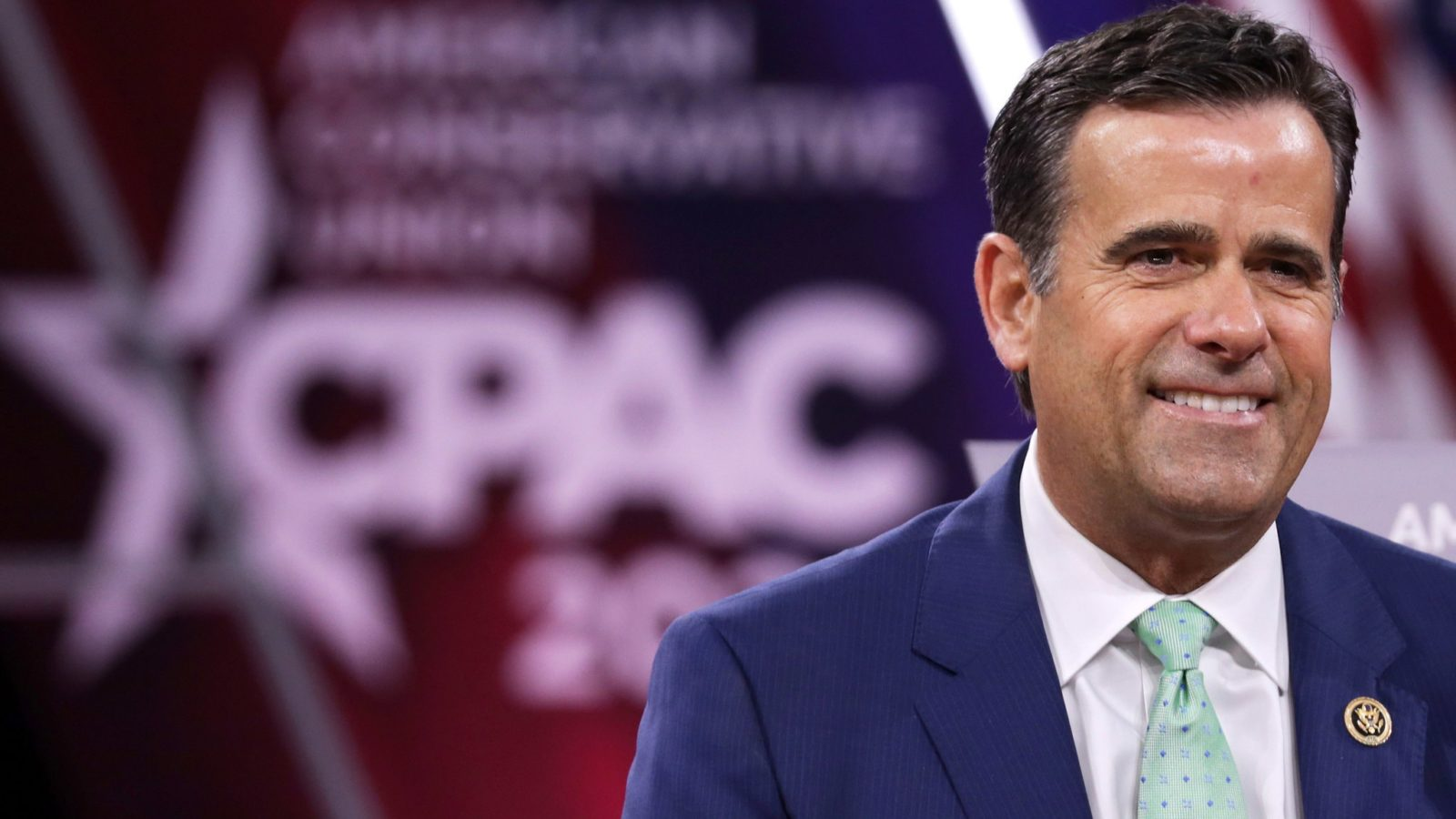 A photo of Congressman John Ratcliffe at the 2020 the annual Conservative Political Action Conference (CPAC)