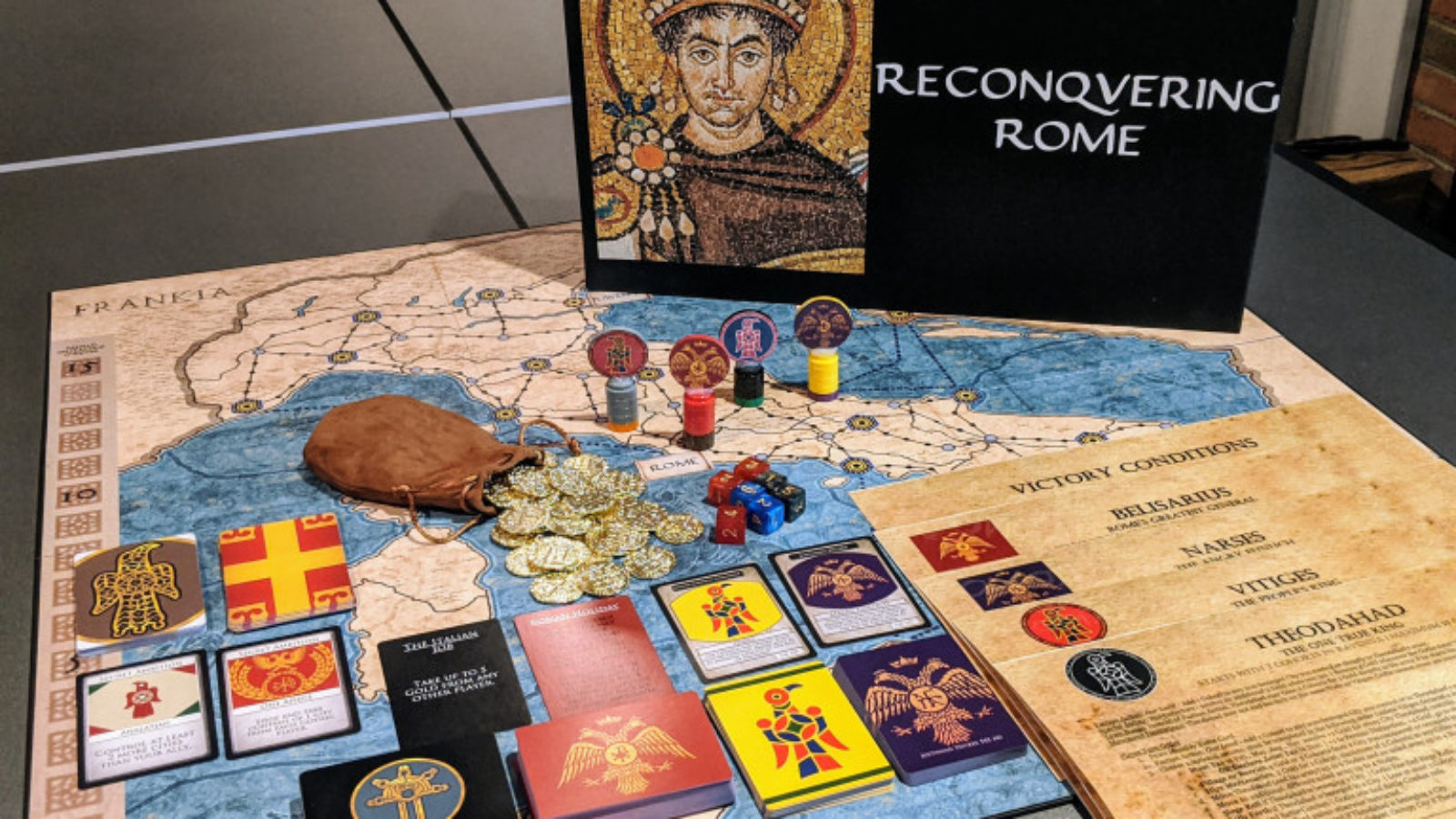 Reconquering Rome, a wargame designed by SSP students