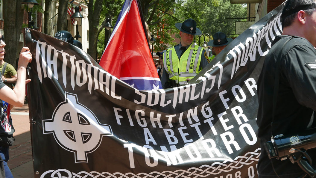 White supremacists at the Unite the Right rally in Charlottesville, 2017
