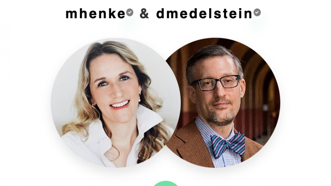 Icons of Marina Henke and David Edelstein with their headshots